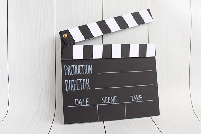 jak zrobić klaps filmowy z papieru
