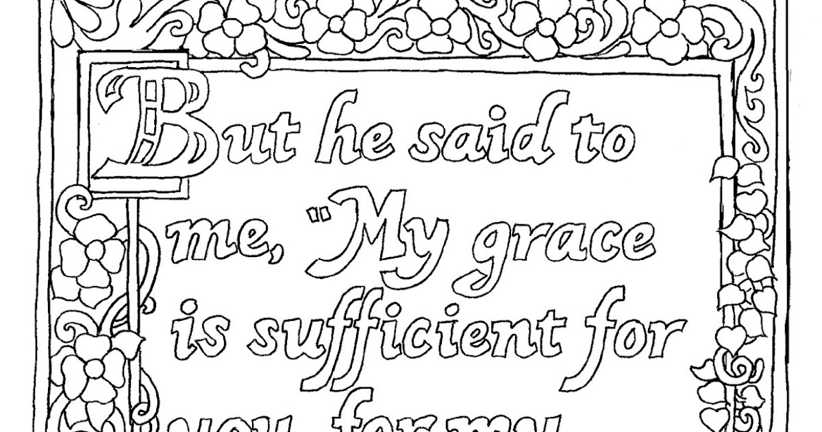 Coloring Pages for Kids by Mr. Adron: Printable My Grace