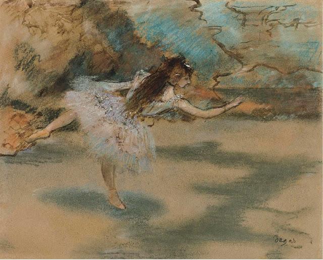 Эдгар Дега - Танцовщица, вставшая на пуанты (1877)