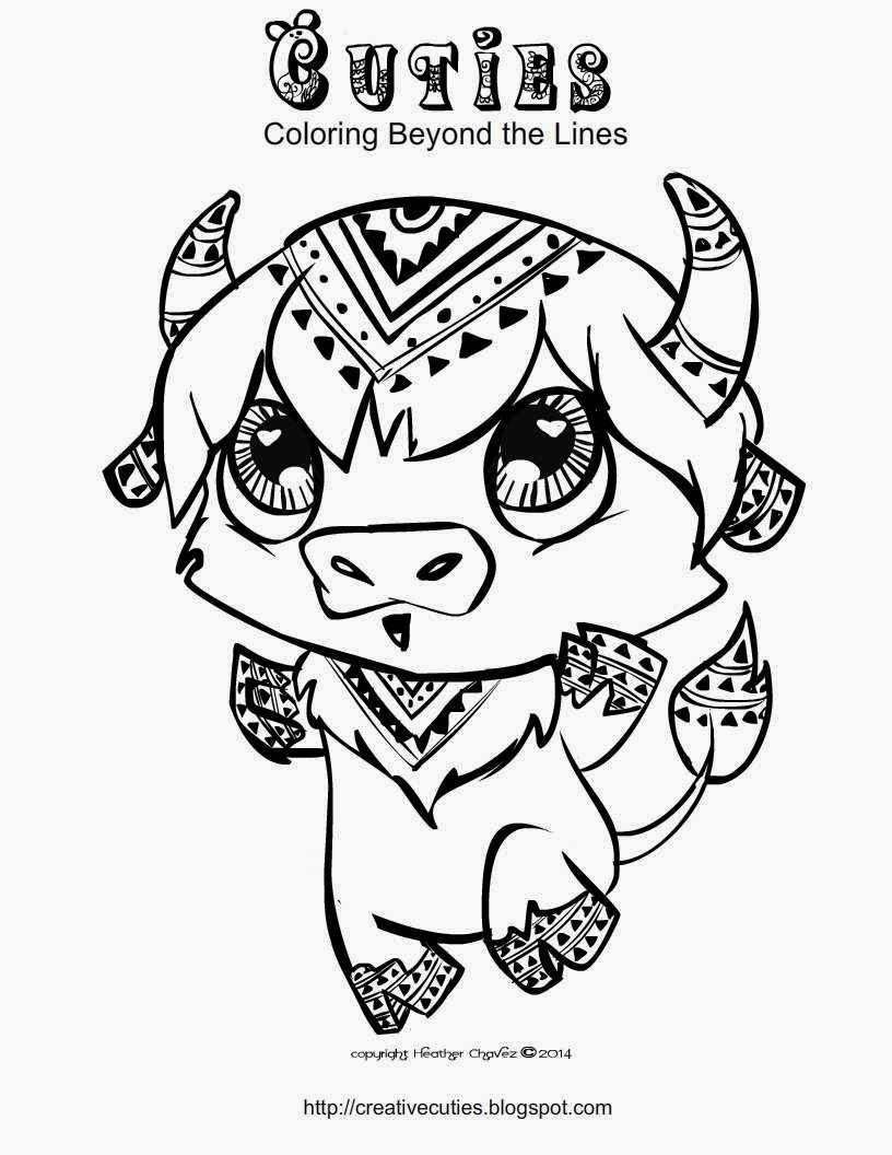 baby buffalo coloring pages | Heather Chavez: Creative Cuties Animal Design