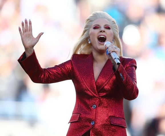 Watch woman Gaga sing the anthem at the Super Bowl fifty at Evangelist structure in metropolis