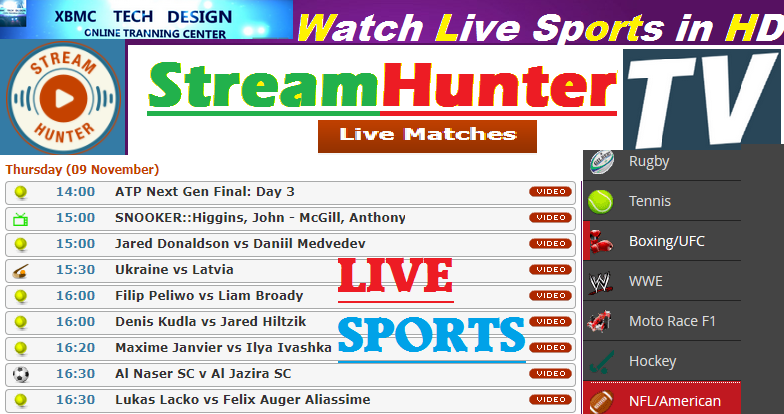 Download StreamHunterTV For Watch World Live Tv Sports on Android,PC or Other Device Through Internet Connection with Using WebBrowser.     Quick StreamHunterTV Watch World Premium Cable Live Sports Channel on Any Devices