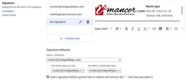Email Signature - GMail