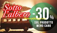 Logo Pittarello promozioni Sotto l'Albero: sconto 30% sul prodotto meno caro