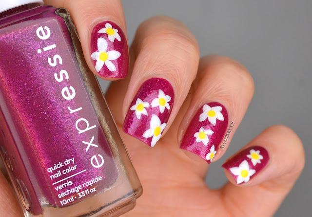 Expressie Mic Drop It Low Spring Flowers Nail Art