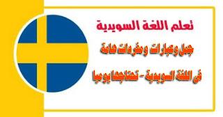 جمل وعبارات  ومفردات هامة فى اللغة السويدية - تحتاجها يوميا