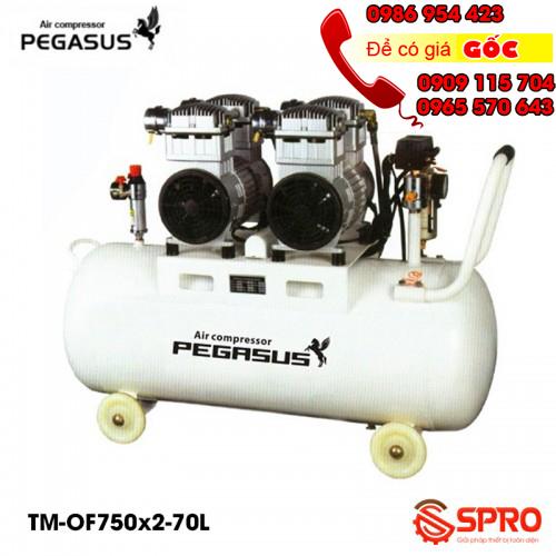 Máy nén khí, máy bơm hơi không dầu giảm âm Pegasus 70L giá rẻ