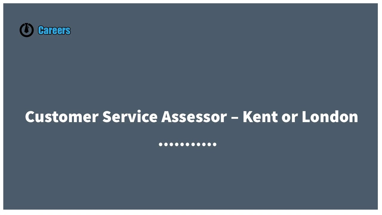 A leading training and assessor company that has seen large expansion is currently looking to recruit qualified (or experienced) Customer Services assessors in Kent or London to strengthen their current training and assessment services.