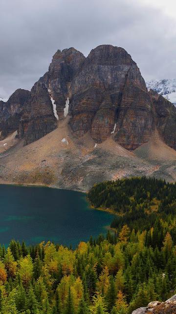 Mountains, lake, forest, landscape wallpaper