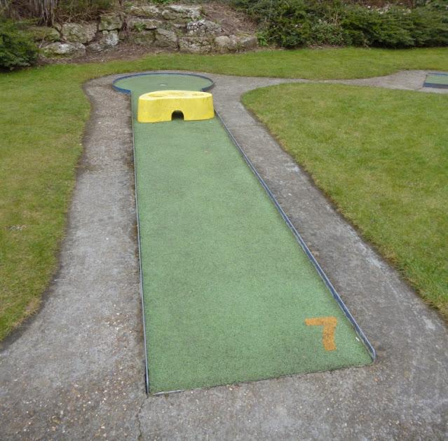 Miniature Golf course at Kelsey Park in Beckenham