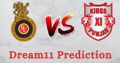 KXIP vs RCB Dream11 Prediction