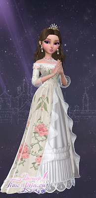 Misty Morning Roses dress
