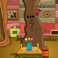 Play GenieFunGames Tree Trunk House Escape