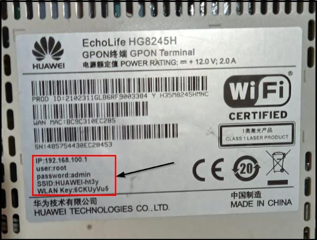 detail password wfi di body label perangkat