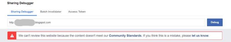 blog dibanned oleh facebook