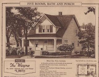 sepia toned 1928 catalog image of Sears Wayne model