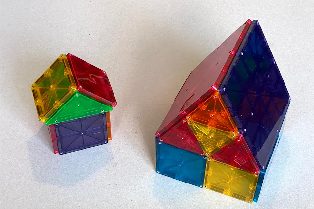 Houses made from Magna-Tiles are one of the things you can build