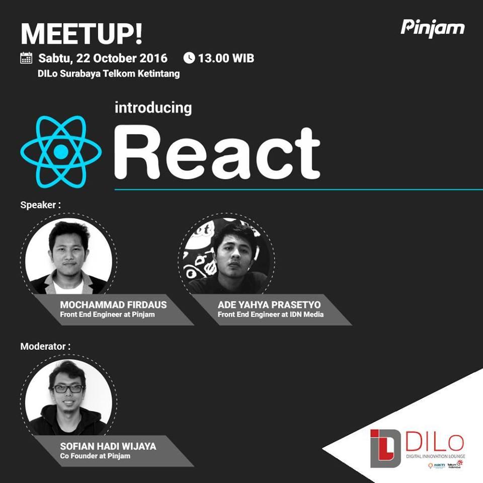 Meetup React JS   Belajar React JS