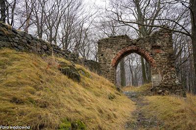 Zamek Nowy Dwór, brama wjazdowa od strony zachodniej
