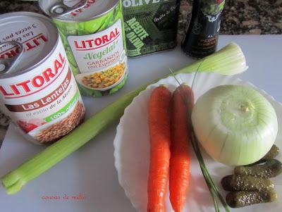 Rollitos de invierno con legumbres para Lunes sin carne