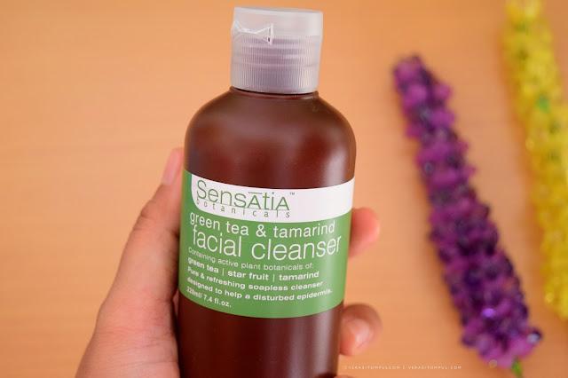 REVIEW Sensatia Botanicals Green Tea & Tamarind Facial Cleanser
