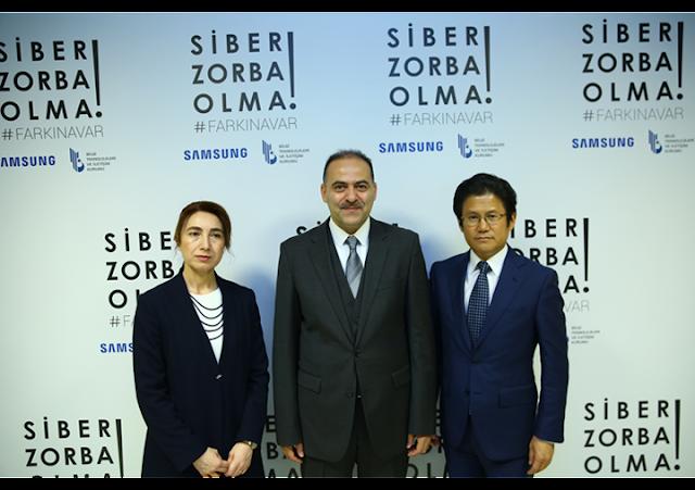 """Samsung Electronics Türkiye, BTK işbirliğiyle """"Siber Zorba Olma! #farkinavar"""" hareketini başlatıyor"""
