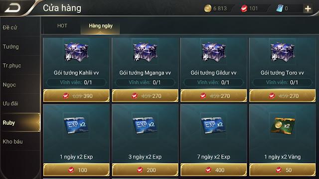 Cách kiếm vàng và mua tướng trong liên quân nhanh