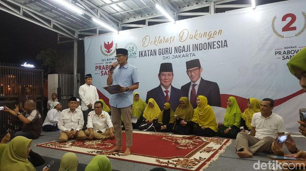 Ikatan Guru Ngaji DKI Deklarasi Dukung Prabowo-Sandi