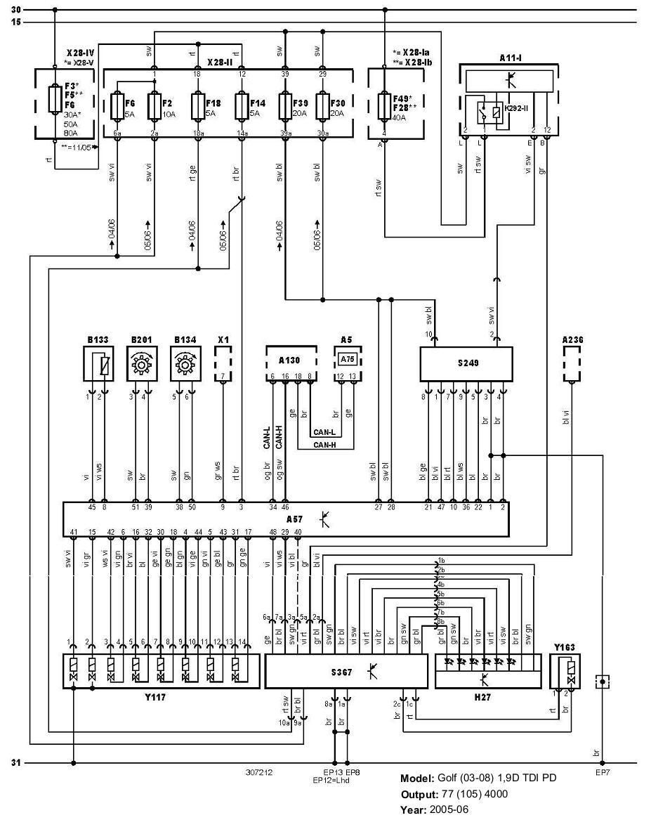 2006 vw pat radio wiring diagram