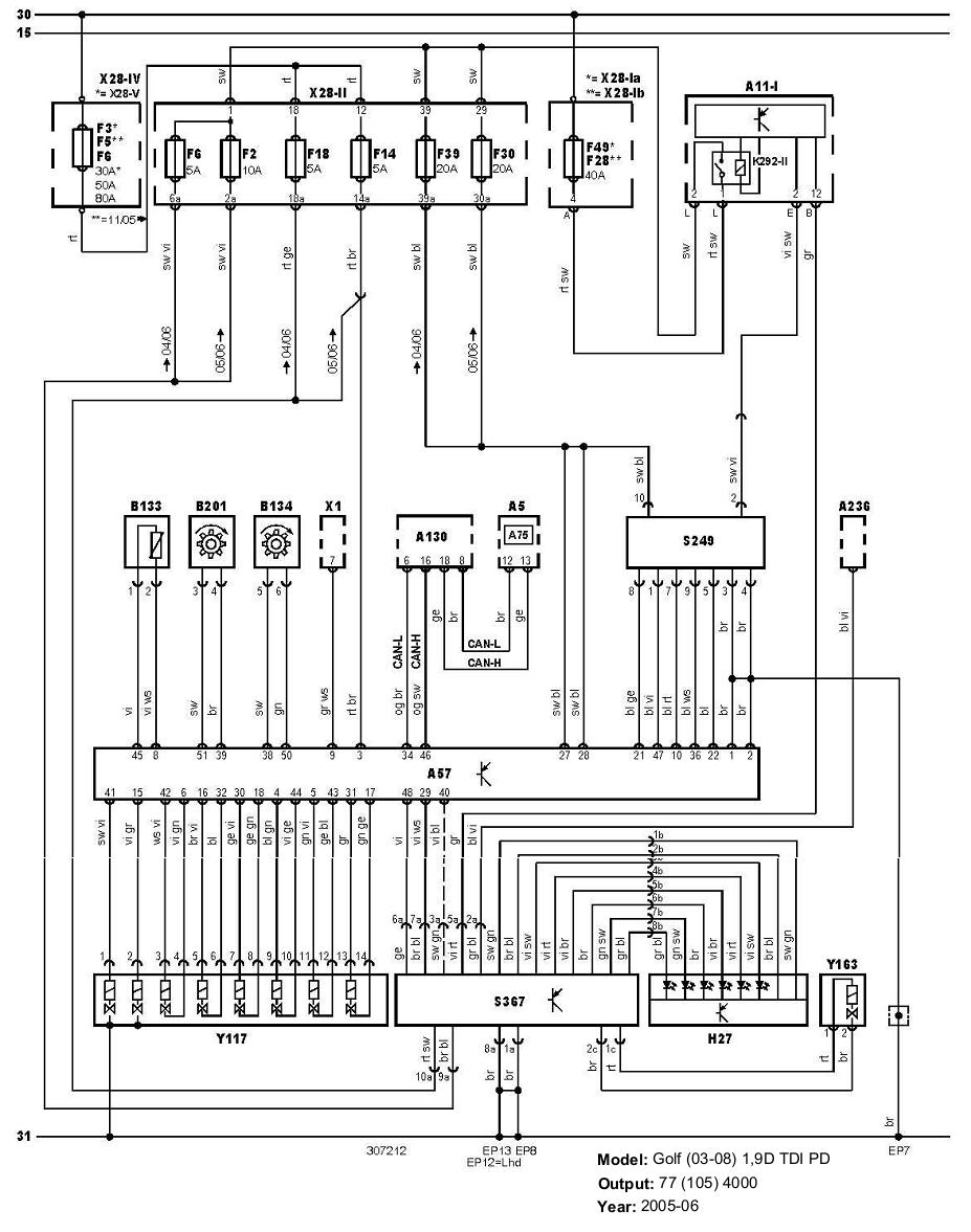 automatic transmissionVolkswagen Golf(0308)19TDI