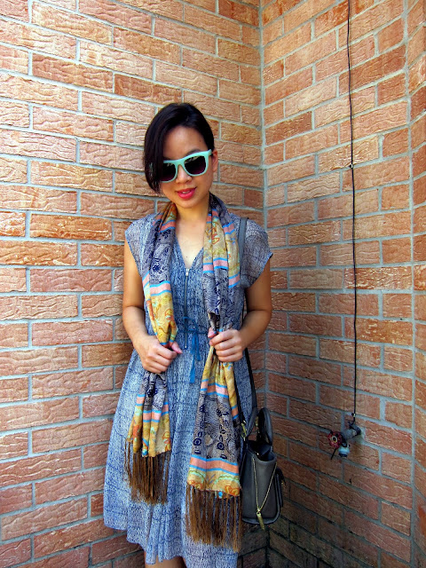 SILK DRESS+SILK SCARF