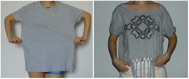 jak przerobić męski T-shirt