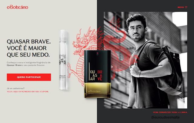 Brinde Grátis O'Boticário Perfume Quasar Brave
