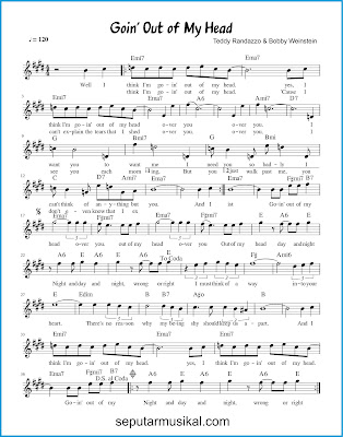 Goin' Out of My Head chords jazz standar