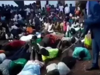END TIME? Pastor Flogs Church Members For Not Attending Church Service (Video)