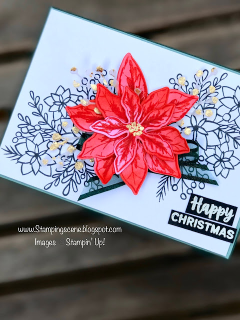 handmade rubber stamped christmas card for card making with zoe tant