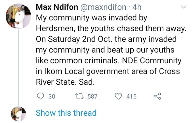 Man claims soldiers beat up members of his community for chasing herders who invaded his community