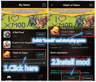 Download Xmod Clash Of Clash Versi 2.3.1 Terbaru 2016