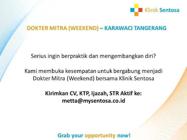 Loker Dokter Klinik Sentosa Karawaci Tangerang