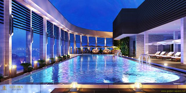 Bể bơi bốn mùa dự án Golden Square