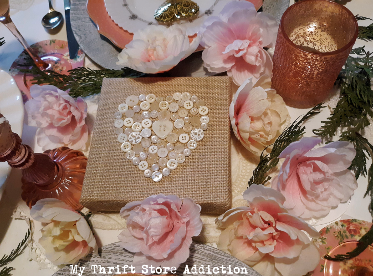 romantic Valentine tablescape