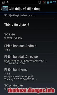 ROM stock Viettel V8509 flashtool oke + file BIN