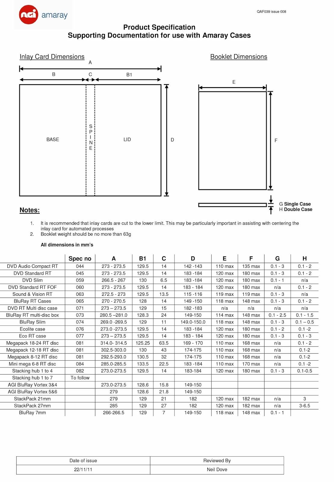 Digital Imaging Software 1 Amaray Dvd Case Dimensions