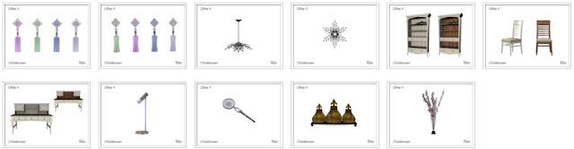 Кабинет и библиотека — наборы мебели и декора для Sims 4 со ссылками для скачивания