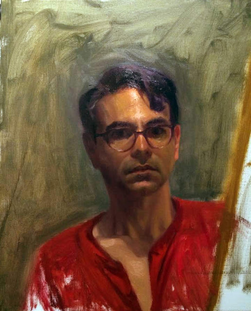 Luis Alvarez Roure, Self Portrait, Portraits of Painters, Fine arts, Portraits of painters blog, Luis Alvarez, Paintings of Luis Alvarez Roure, Painter  Luis Alvarez Roure