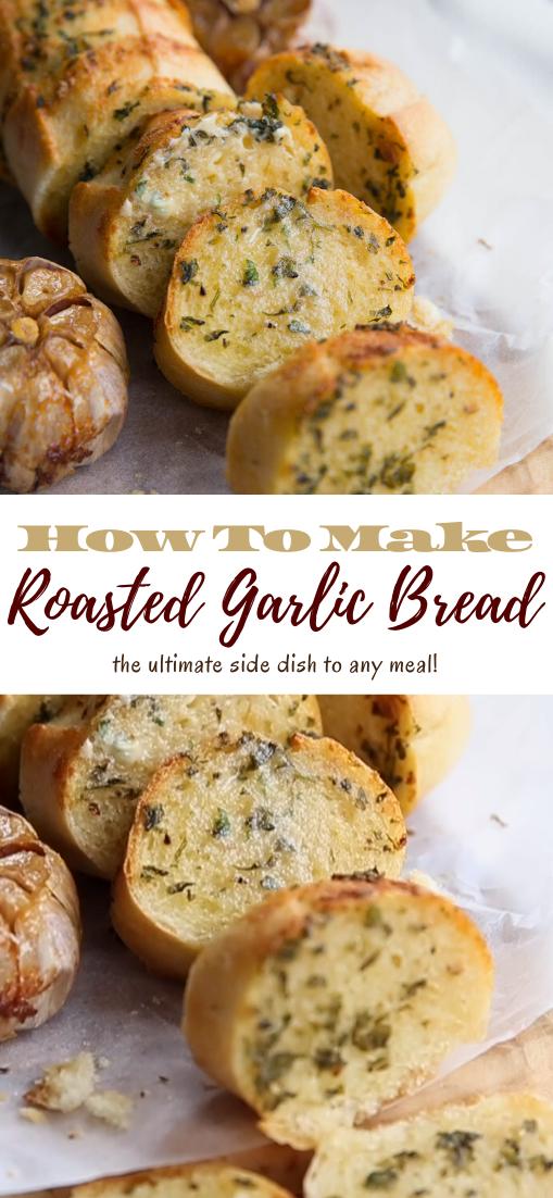 Roasted Garlic Bread #food #lunchrecipe #vegan #vegetarianrecipe #easyrecipe