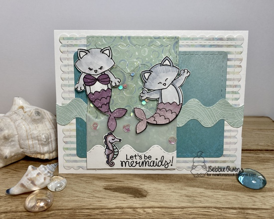 Let's be mermaids by Debbie features Frames & Flags,