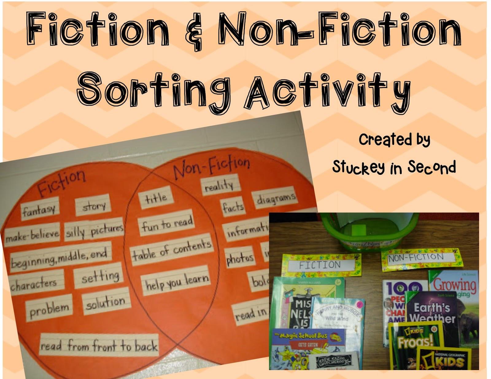 Fiction Band Bnon Bfiction Bbook Bsort on Fiction And Nonfiction Venn Diagram