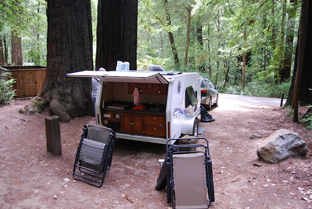 Big Basin Redwoods State Park, Tiny Trailer Camping