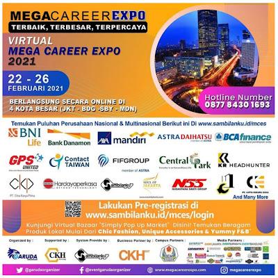 Mega Career Expo 2021 Banyak Lowongan Kerja Disini